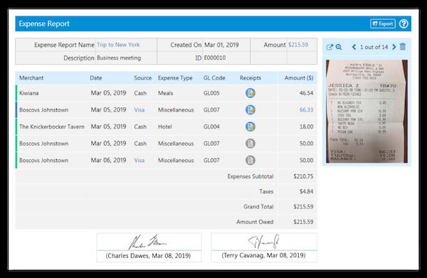 SutiExpense expense approval screenshot