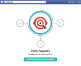 Zoho SalesIQ Facebook configuration screenshot