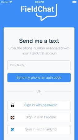 FieldChat send me a text