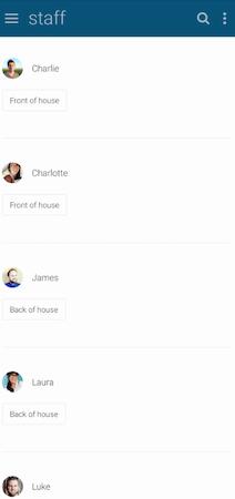 Findmyshift staff status