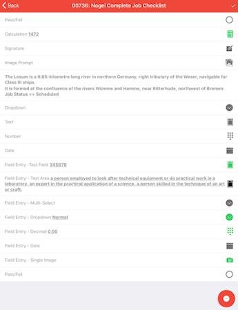 Fieldmagic job checklist