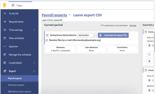 Figgo export payroll reports