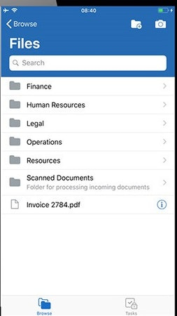 DocuShare file searching