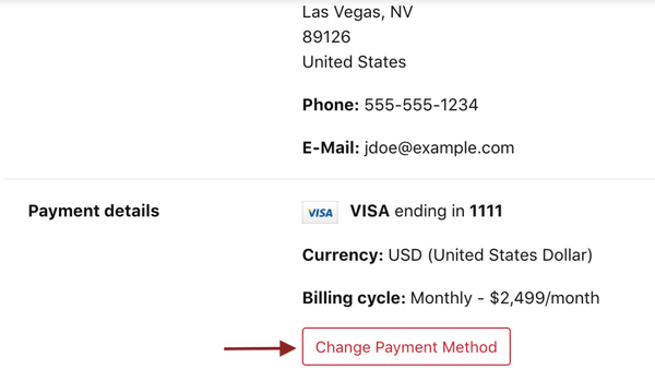 Files.com billing information screenshot