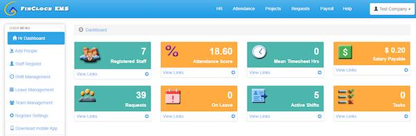 FinClock dashboard screenshot