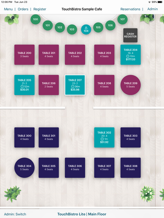 TouchBistro Floor Plan
