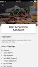 Elluminati E-Delivery food descriptions