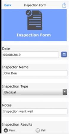 Formotus inspection form