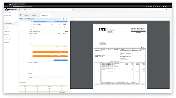 FreightWise Carrier Invoice