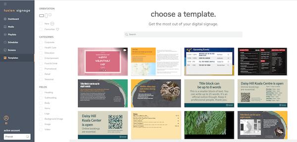 Fusion Signage templates