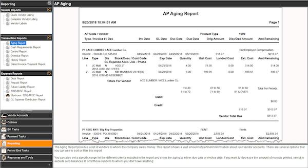 AP Aging Report
