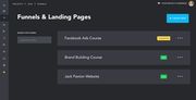 Hyax funnels & landing page management