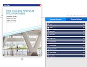 GleanQuote proposal builder screenshot
