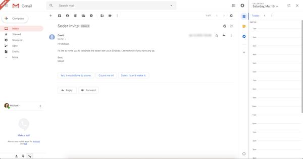 Gmail schedule calendar