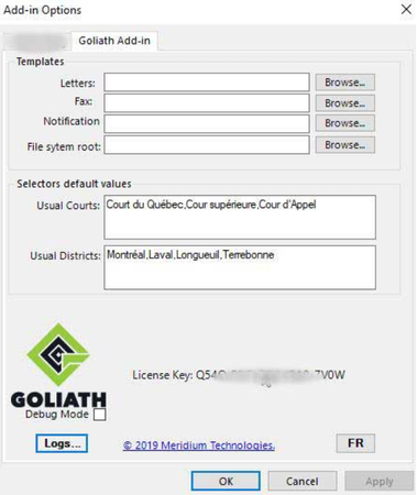 Goliath add-in