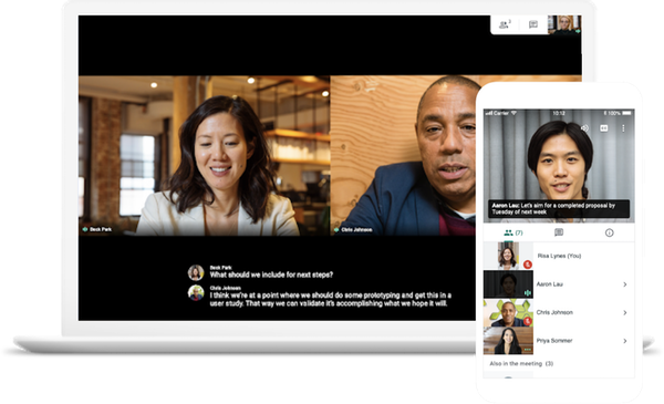 Google Meet Cross-Device Video Conferencing
