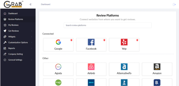 Grab Your Reviews review platforms