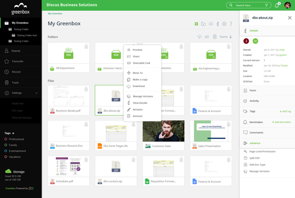 Greenbox folders