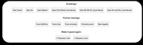 Revuow custom greetings