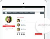 Hearsay Social dashboard