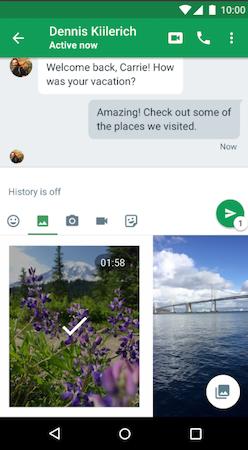 Google Hangouts media sharing