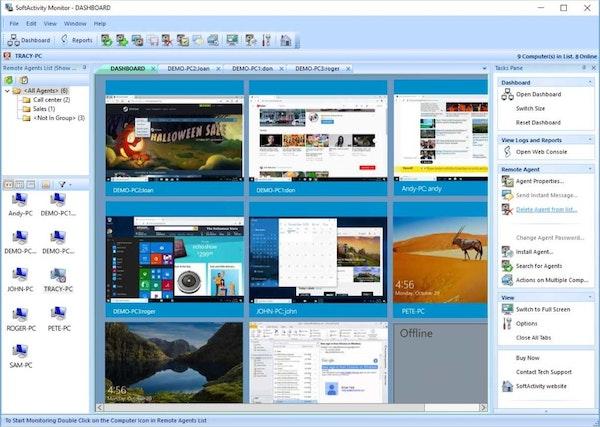 SoftActivity Monitor dashboard screenshot