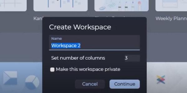 Hoylu create workspace