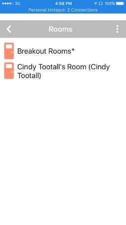 HPE MyRoom breakout rooms