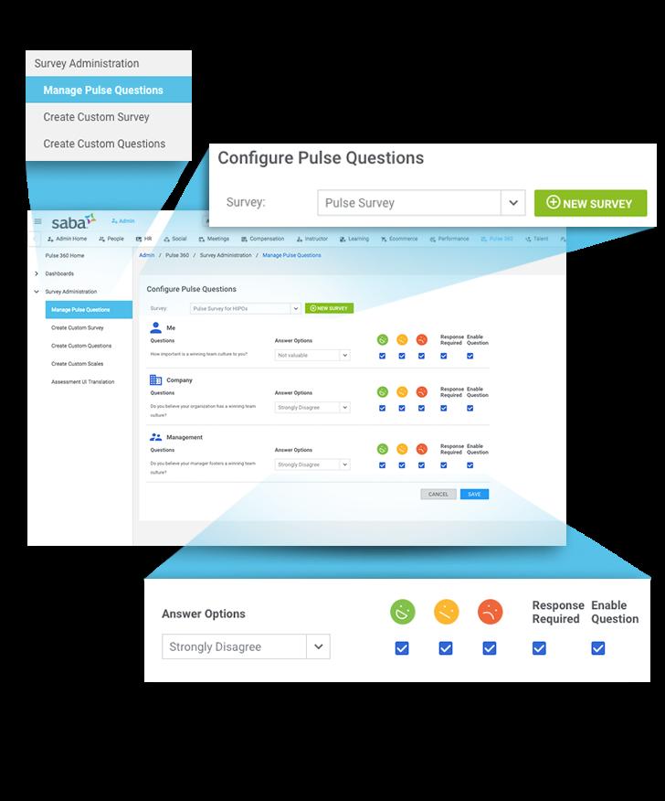 Saba - Custom engagement surveys