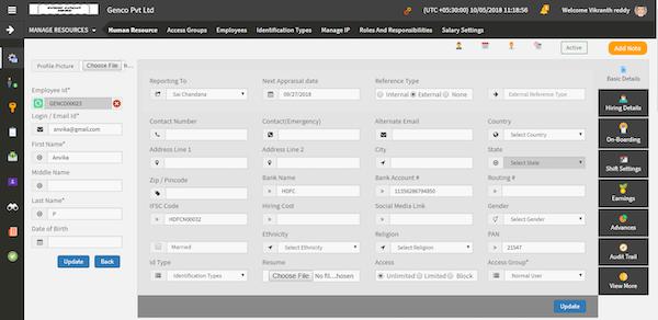 Accountri resource management screenshot