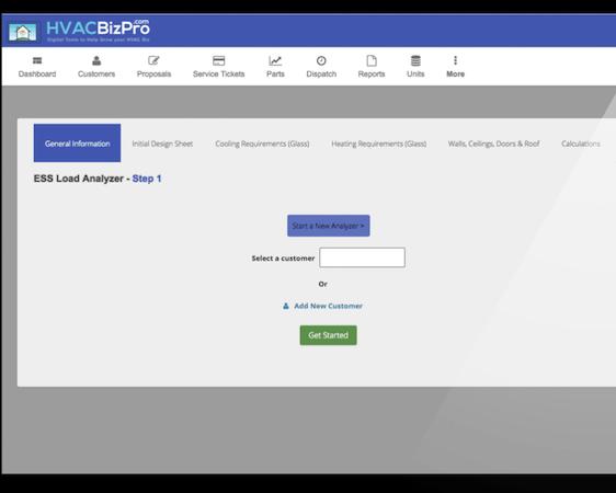 HVACBizPro load analyzer