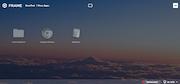 Frame virtual display