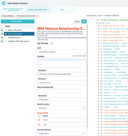 Lucidworks Fusion integration with IBM Watson