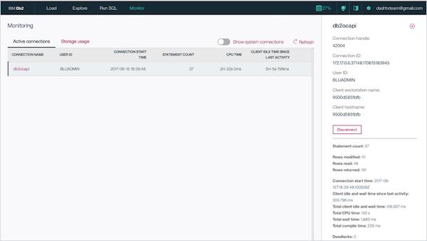 IBM Db2 storage monitoring