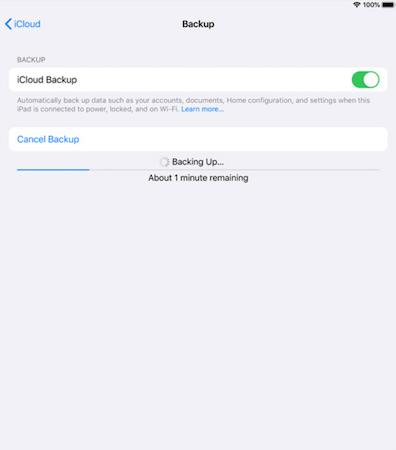 iCloud file backup