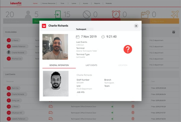 Idenfit employee records