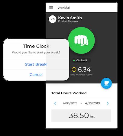 Workful time clock