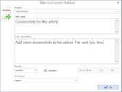 MyChat adding tasks