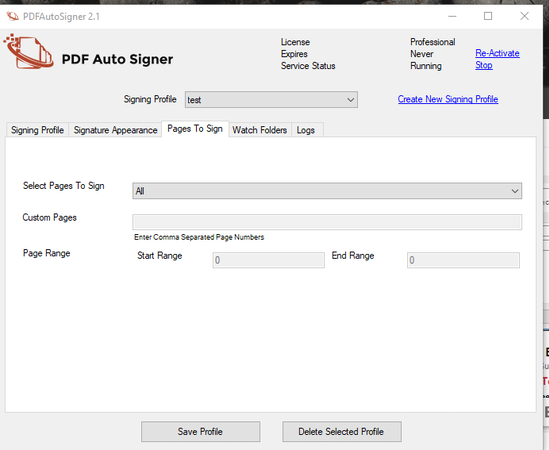 PDF AutoSigner pages to sign screenshot