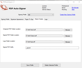 PDF AutoSigner watch folders screenshot