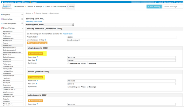 Importing booking data
