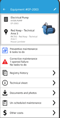 Infraspeak equipment details