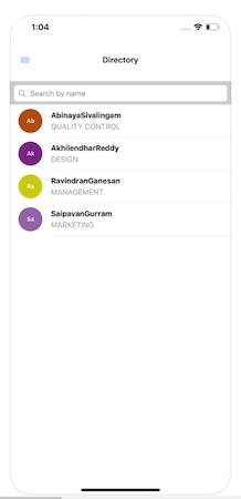 InnBuilt HRMS employee directory