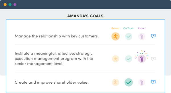 Insights goal tracking screenshot