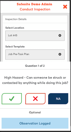 Safesite inspection checklist