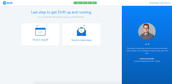 Drift installation screenshot