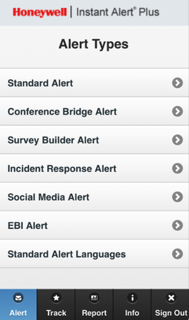Instant Alert notification types