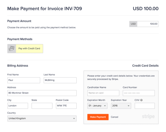 invoicely online payments