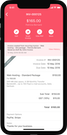 Zoho Invoice mobile application screenshot
