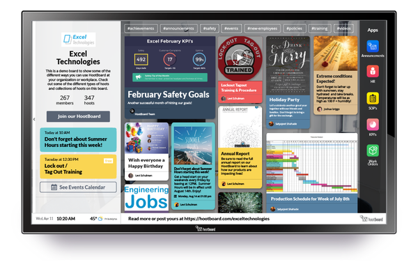 iOS application dashboard